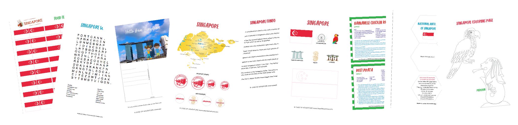 FREE Singapore Printables - Case of Adventure .com