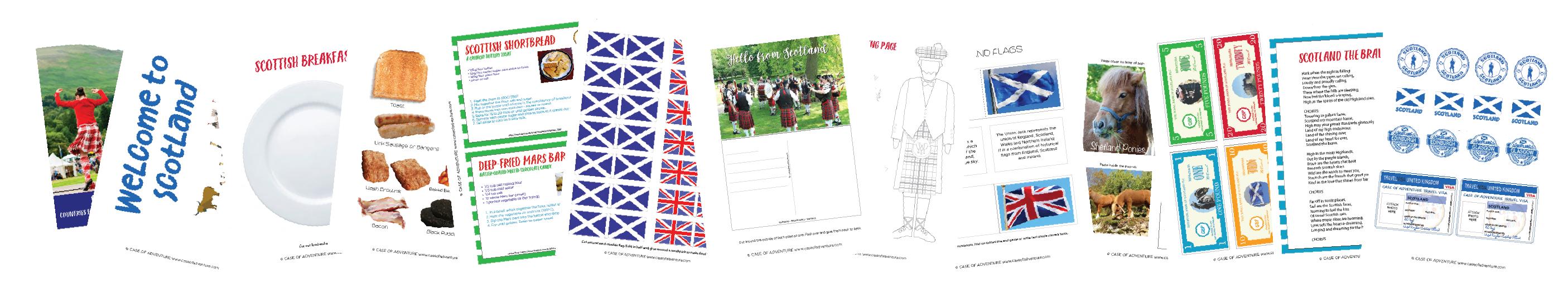Scotland for Kids Free Printable Pack - Case of Adventure .com